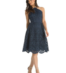 Kék Chi Chi London csipke ruha 36
