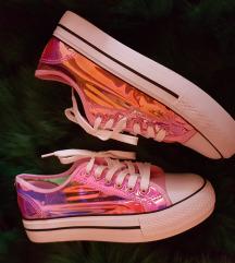 Pink hologrammos sportcipő