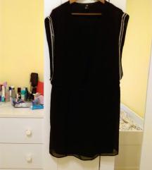 H&M gyöngyös fekete ruha