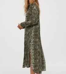 H&M Calf-length Shirt Dress - Méregzöld I 38