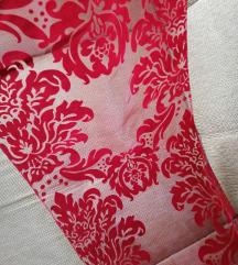 Bordó/piros bársonyos asztali futó