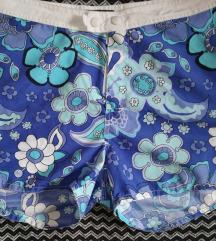 Kék virágos vízisport nadrág szörf sort