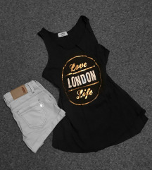 London mintás top