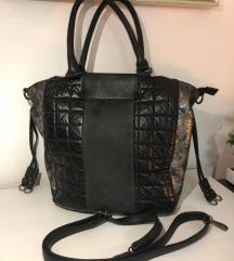 Fekete ezüst táska