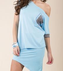 Új My77 kék ruha szett S-M