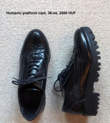 Fekete platform cipő, humanic, 36, 2500 HUF