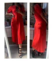 Piros Zara maxi pólóruha (M)
