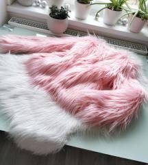 Babarózsaszín szőrme kabát S Új 🌸
