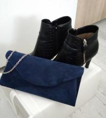 Bőr olasz bokacsizma táskával