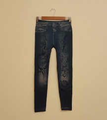Kék farmerhatású leggings 2