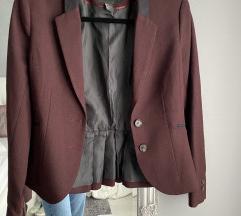 Bordó-fekete zakó, S méret H&M