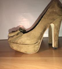 Barna platform cipő