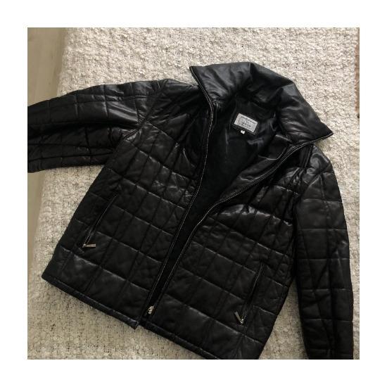 Bőr puffer kabát