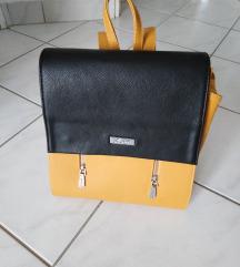Sárga-fekete háti táska