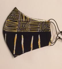 AKCIÓ Sárga-fekete textilmaszk