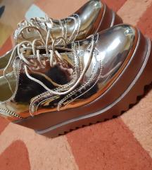 Rosegold magastalpú platform cipő