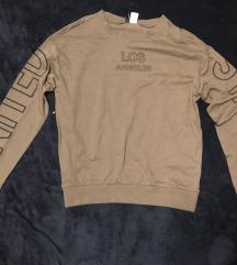 H&M khaki crop pulcsi