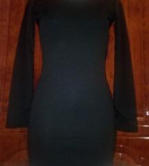 Új fekete kivágott mini ruha