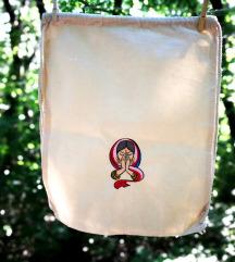 Új, Indiai spirituális hímzett tornazsák gymbag