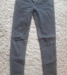 H&M 28as sötétszürke térdén szaggatott nadrág