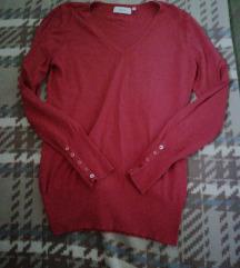 Yessica korall piros pulóver s, m.