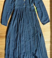 S, M - Kék iparművészeti ruha, hosszú ruha