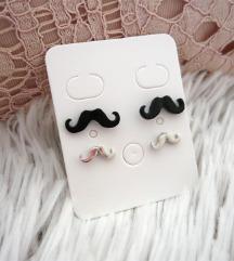 Újsz. bajuszos (mustache) fülbevaló pár ❤