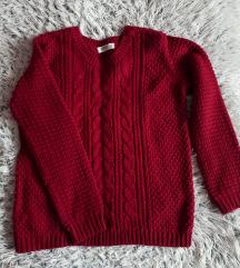 C&a hibátlan piros vastag pulóver
