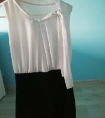 Fekete fehér mini ruha