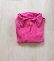Rózsaszín xs-s csini, galléros felső