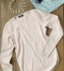 Mango púderszínű pulóver