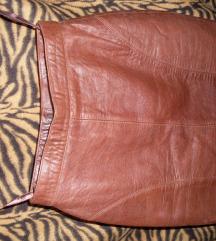 Valódi bőr szoknya barna bőrszoknya