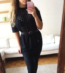 Fekete hosszított póló ÚJ