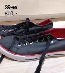 Dunlop fekete piros tornacipő