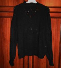 F&F kötött fekete pulóver