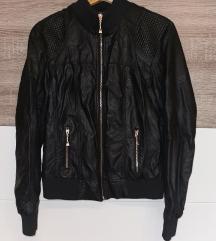 Fekete műbőr dzseki 2XL-es