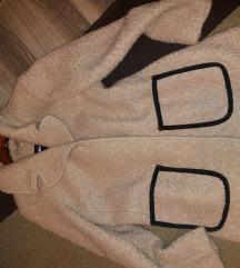 Teddy kabát,púder szín m.es