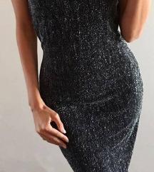River Island fekete-ezüst bodycon ruha