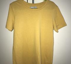 Bershka mustársárga rövid ujjú póló XS