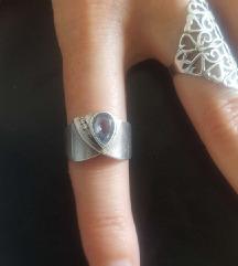 Gyönyörű vastag ezüst gyűrű Görögországból