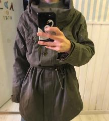 Pullandbear zöld átmeneti kabát
