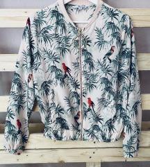 Trópusi mintás dzseki