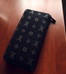 LV fekete pénztárca