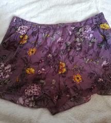 Vintage, virágos selyemshort