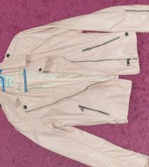 Retro jeans bőrdzseki kabát