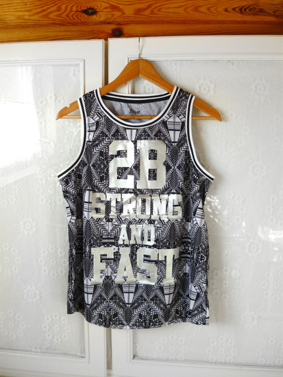 ✿ Új ezüst fekete sport trikó ( tank top )