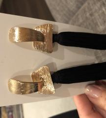 Új Fekete és arany színű fülbevaló