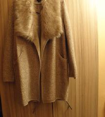F&F szőrmés kabát, kardigán