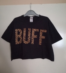 ÚJ grunge crop póló bársony felirattal