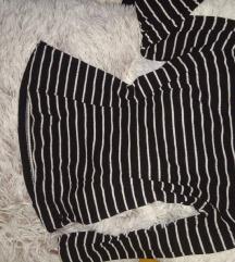 Bordázott fekete-fehér csíkos felső